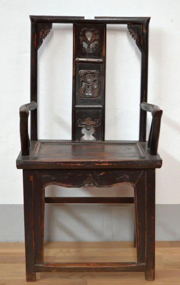 Antica-sedia-cina-Shanxy-in-olmo-intagliato-e-braccioli_3