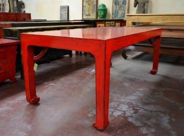 Tavolo-Cina-in-legno-di-olmo-massello-lacca-rossa_4