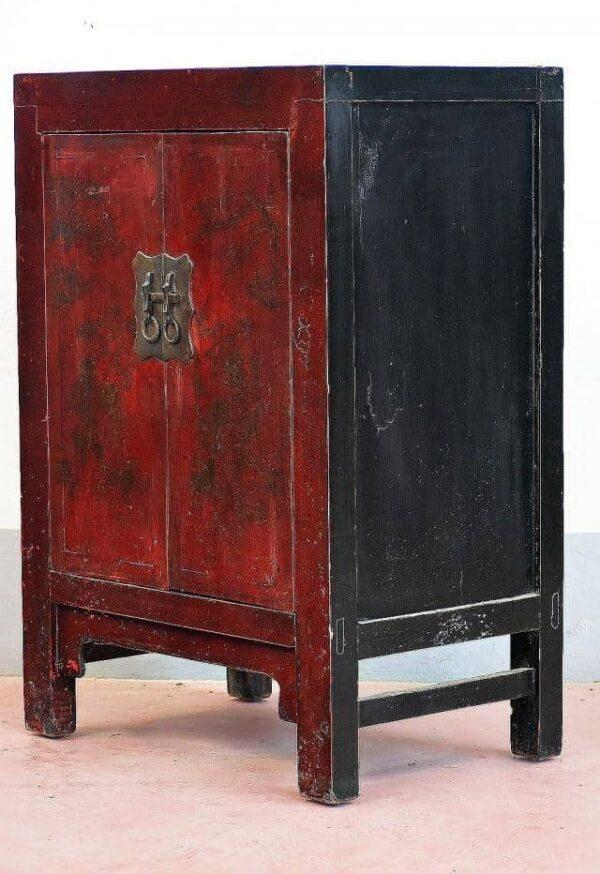comodino-orientale-Cina-laccato-1920-lacca-arancio
